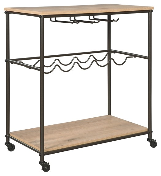 Jadonport - Brown/Black - Bar Cart