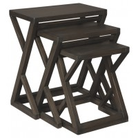 Cairnburg - Gray - Accent Table (Set of 3)