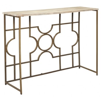Roelsen - Gold - Console Sofa Table