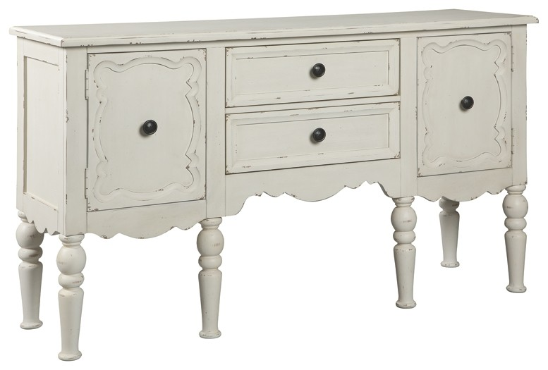 Loumont   Antique White   Accent Cabinet