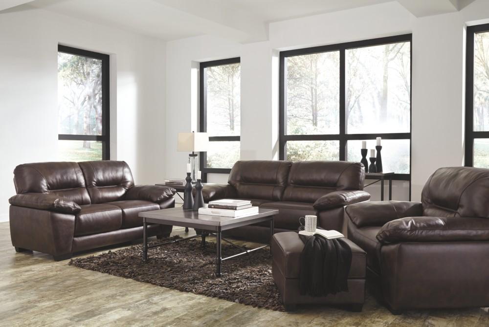 Mellen - Walnut - Sofa | 1740138 | Leather Sofas | Furniture Factory ...