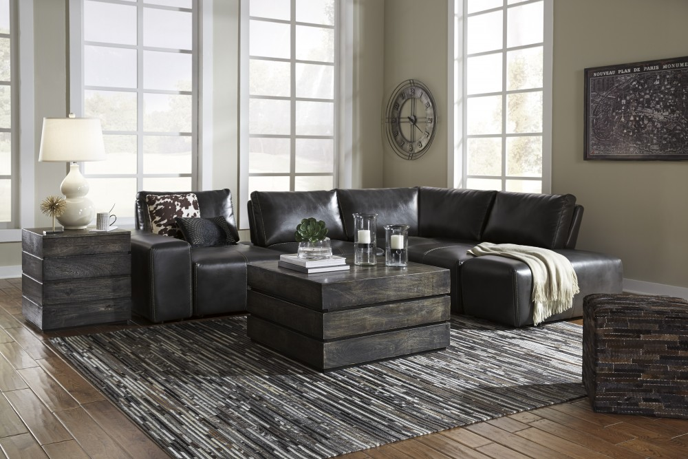 Cliffoney - Gray 4 Pc. Sectional