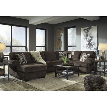 Jinllingsly - Chocolate 3 Pc. LAF Chaise Sectional