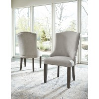 Zimbroni - Brown - Dining UPH Arm Chair (2/CN)