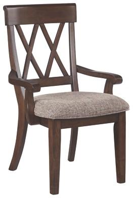Brossling - Dark Brown - Dining Room Arm Chair (2/CN)   D727-01A ...