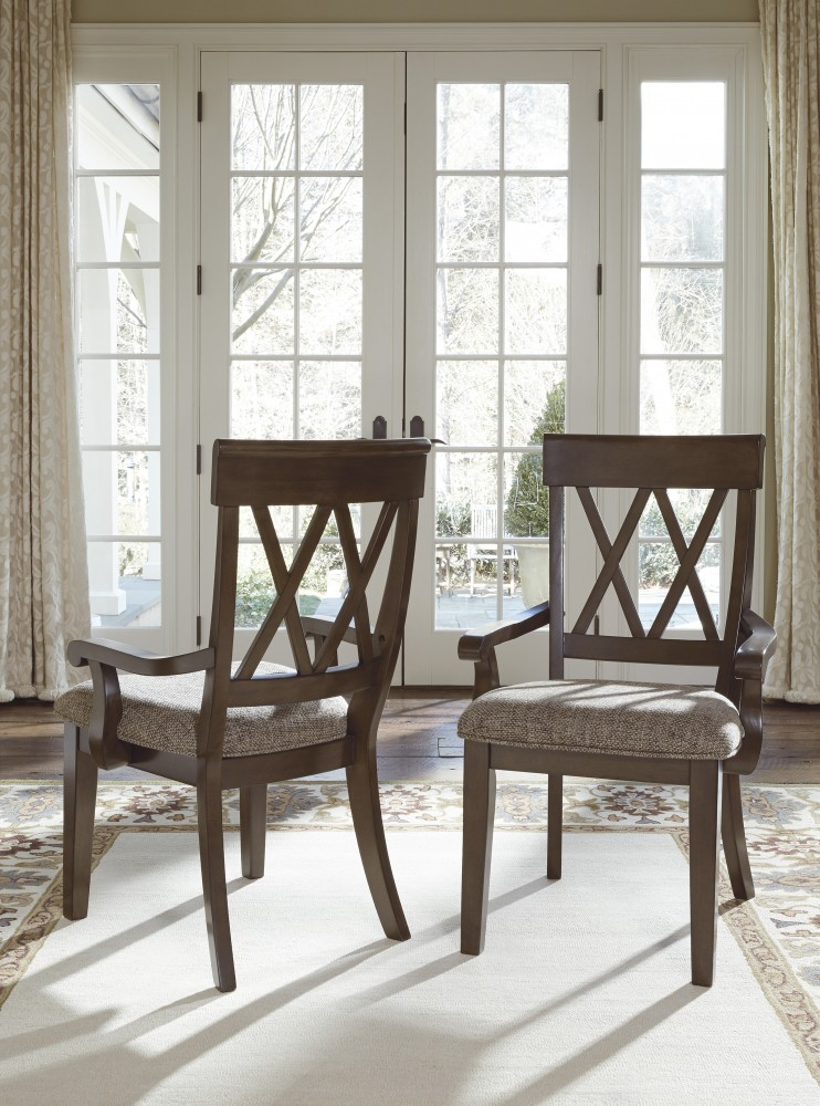 Brossling Dark Brown Dining Room Arm Chair 48CN D748748A Interesting Arm Chair Dining Room