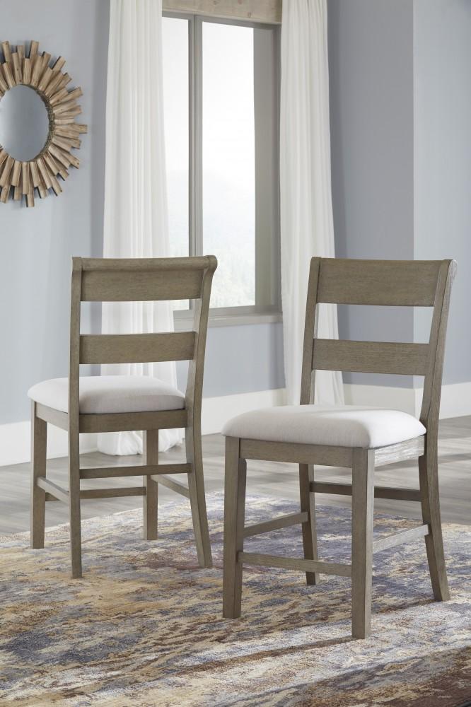 Chapstone   Gray   Upholstered Barstool (2/CN) | D732 124 | Bar Stools |  Limerick Furniture