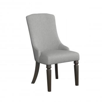 Mikalene - Brown Metallic - Dining UPH Arm Chair (2/CN)