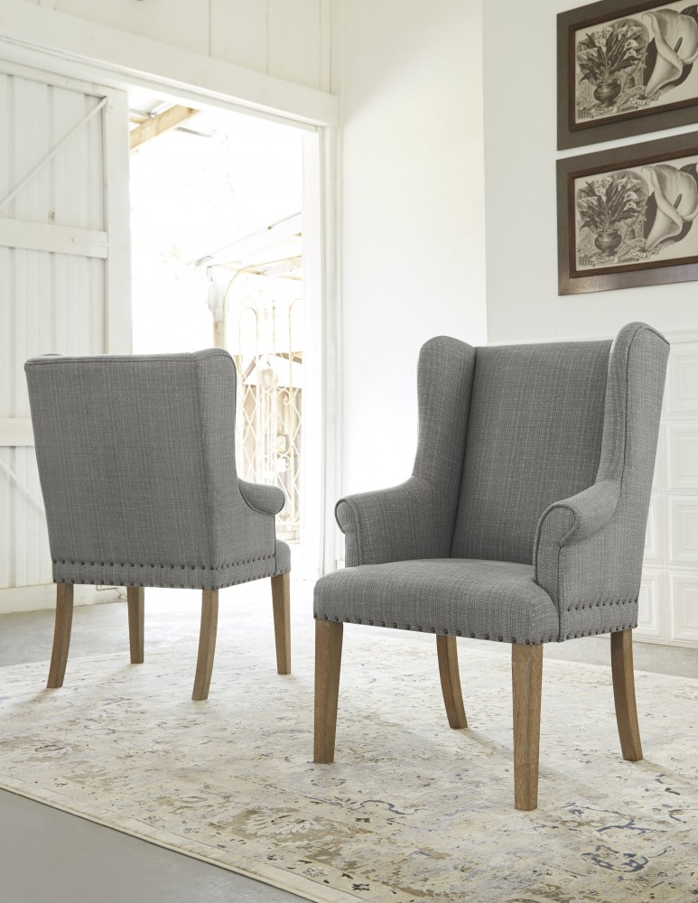 Ollesburg - Brown - Dining UPH Arm Chair (2/CN)