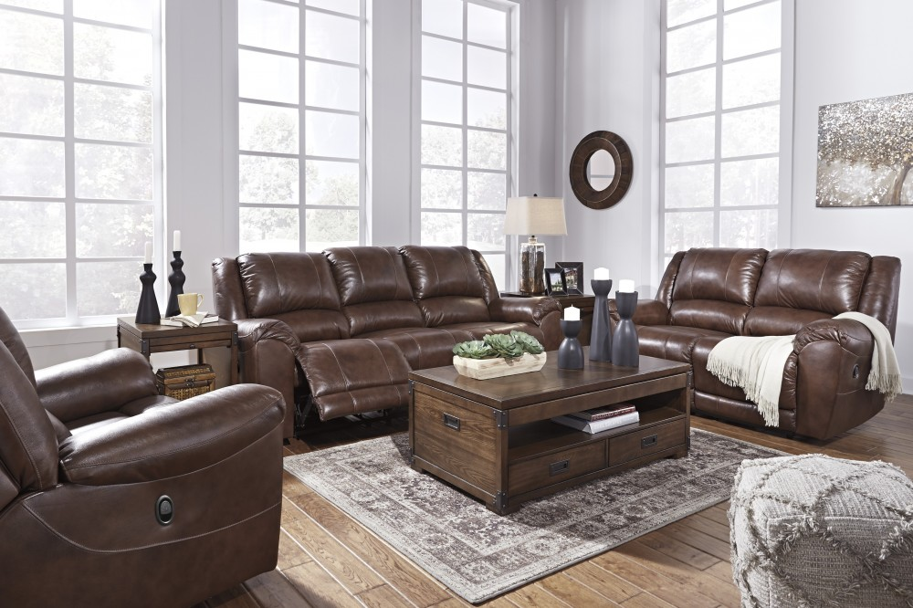 Persiphone - Canyon - Reclining Leather Sofa, Loveseat & Recliner