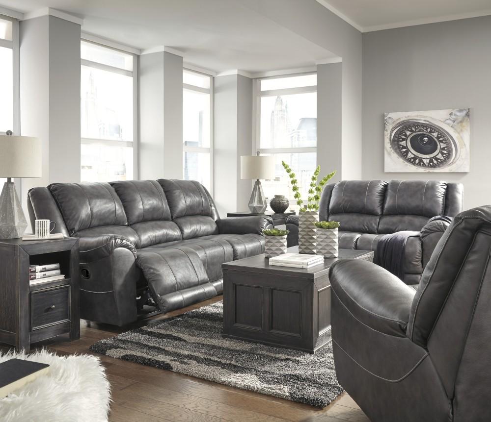 Persiphone - Charcoal - Sofa, Loveseat & Recliner