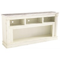 Becklyn - Chipped White - XL TV Stand w/Fireplace Option