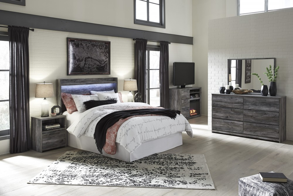 Baystorm - Gray - 3pc Queen Bedroom Group
