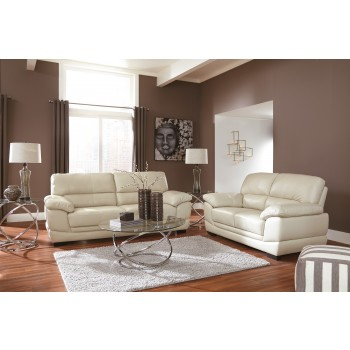 Fontenot - Cream - Sofa & Loveseat
