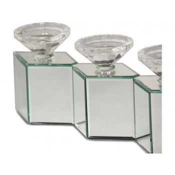 Montreal Mirrored Cube Linear Candle Holder