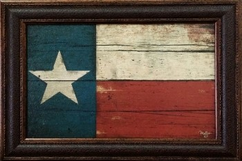 Painted Texas Flag 12 X 18