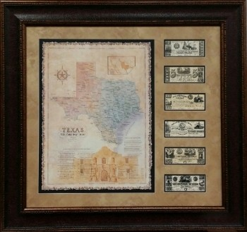 Alamo Map w/ Money 32 X 34