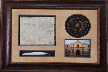Travis Letter w/ Seal and Quill 24 X 36