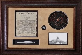 Texas Declaration of Independence w/ Quill & Seal 24 X 36