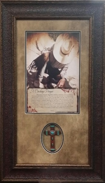 Cowboy Prayer w/ Cross 16 X 28