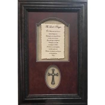 Lord's Prayer w/ Cross 16 x 24