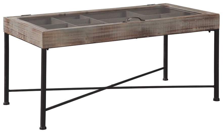Shellmond - Antique Gray/Black - Accent Cocktail Table - Shellmond - Antique Gray/Black - Accent Cocktail Table A4000208