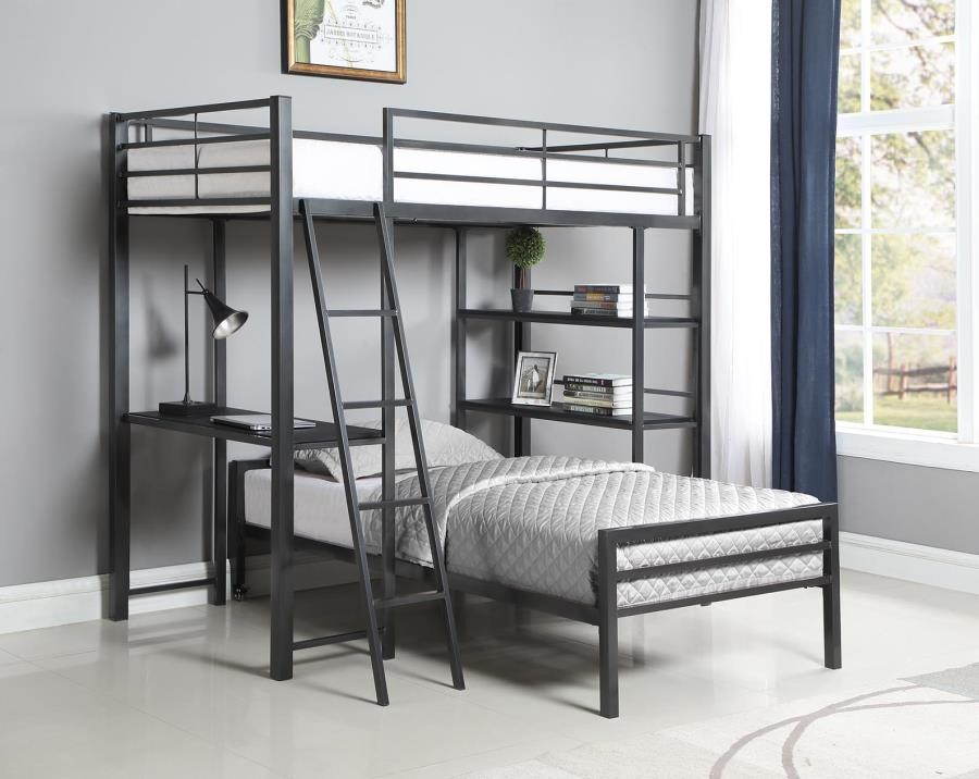 HADLEY WORKSTATION LOFT BED - Twin Workstation Loft Bed