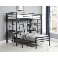 HADLEY WORKSTATION LOFT BED - Twin Bed