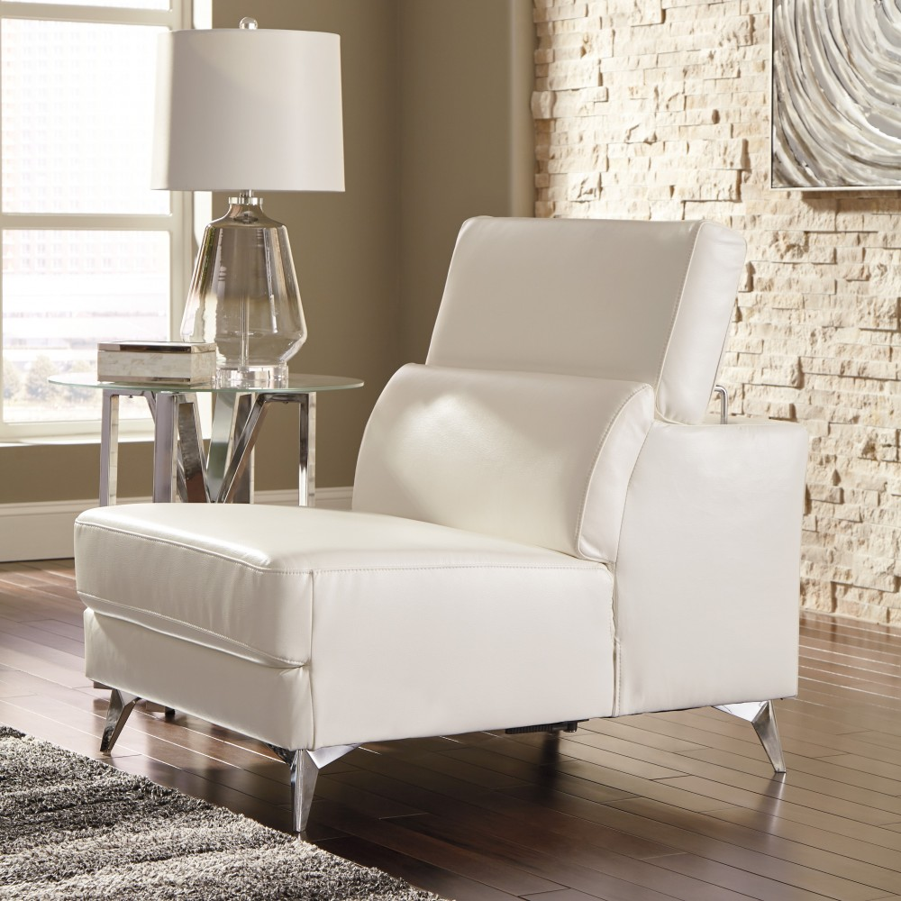 Tindell   White   Armless Chair