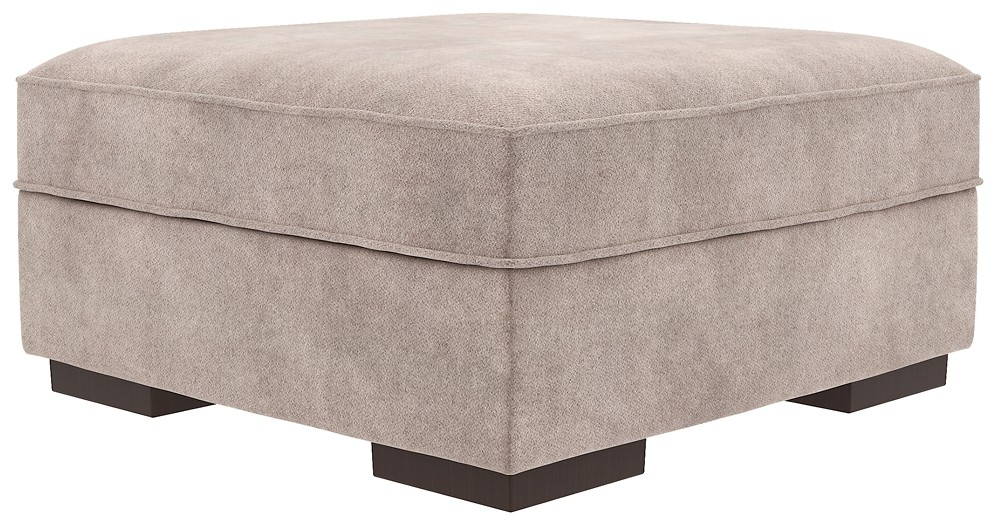 Bardarson Silver Ottoman With Storage 6440311 Ottomans