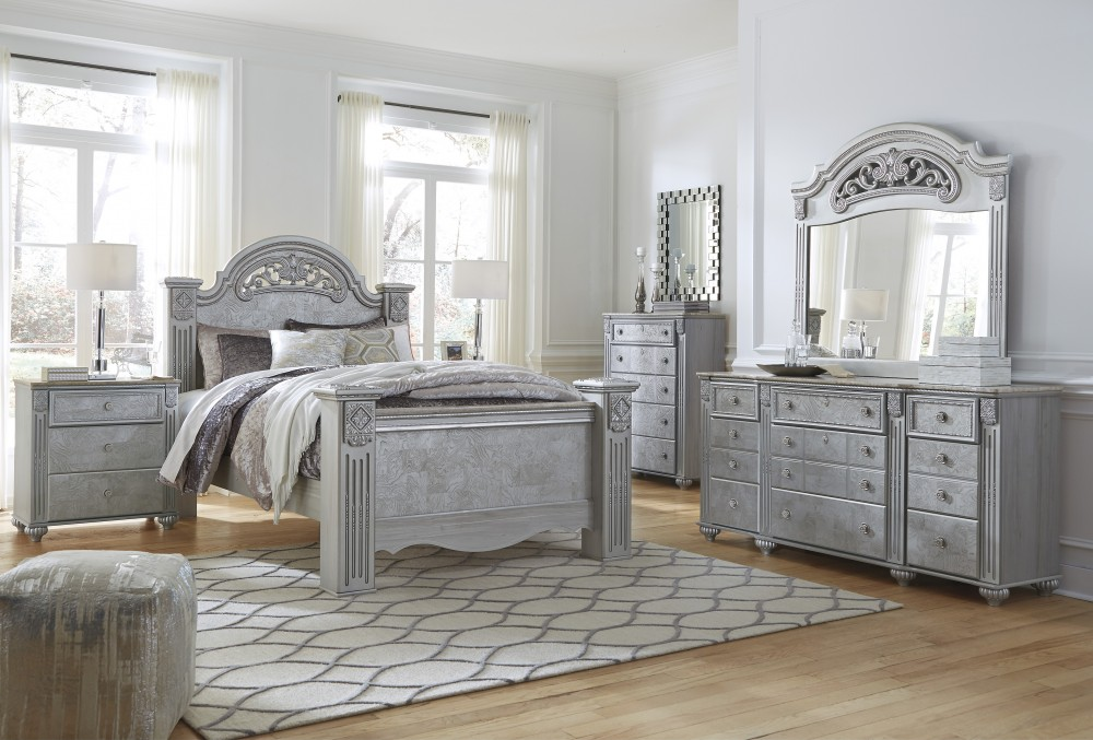 Silver Bedroom Set | Zolena 6 Piece Bedroom Set