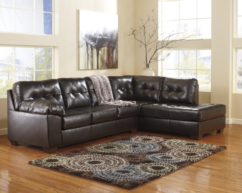 Alliston DuraBlend - Chocolate 2 Pc. RAF Chaise Sectional