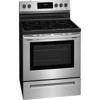 Crosley CREE3877TS/D 5.3 Cu. Ft Glass Top Electric Range Stainless/Stainless Black