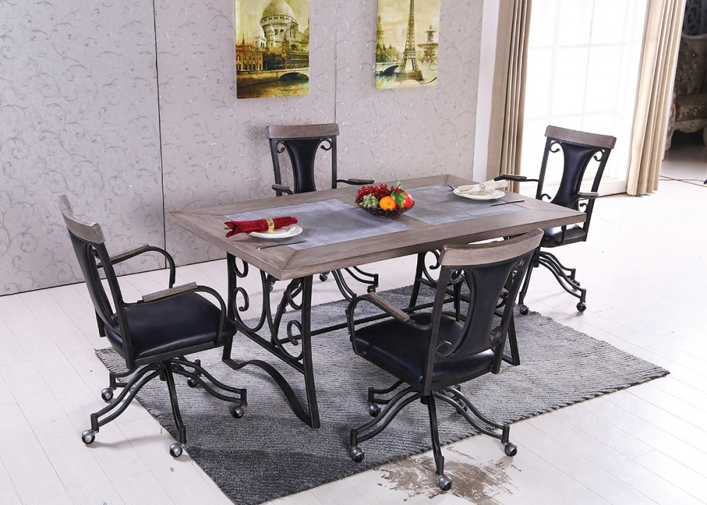 table 6 swivel caster chairs d152 d152 7 dining room groups