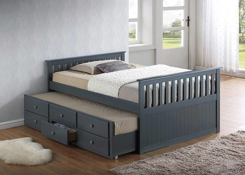 Twin Captain Bed With 3 Drawer Trundle B780 B780 Beds