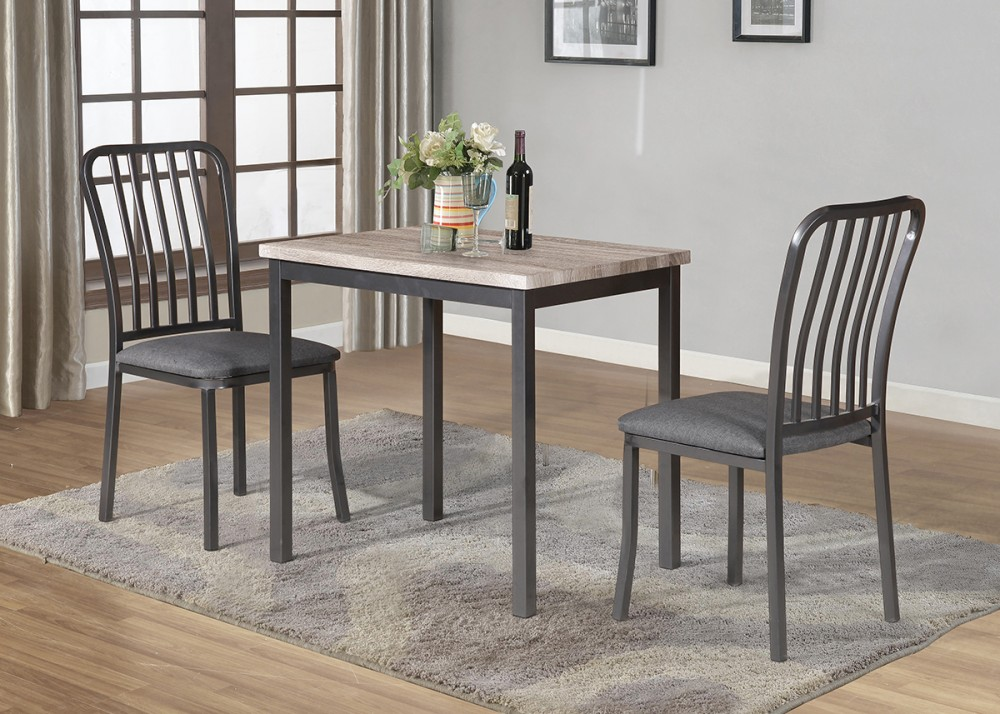 TABLE + 2 SIDE CHAIRS - D895