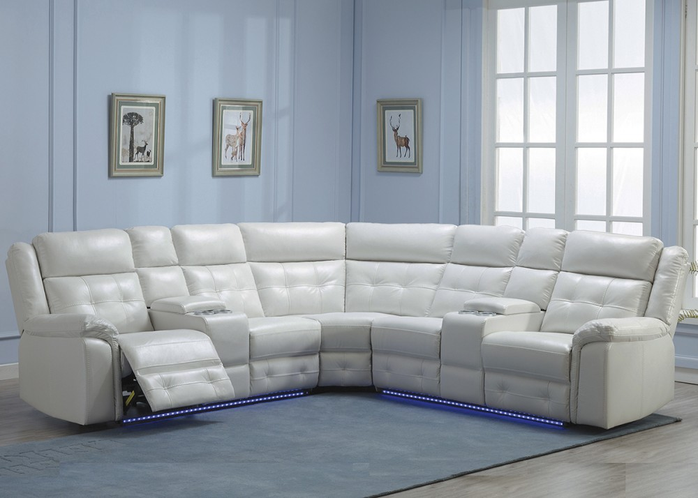 3 PC POWER RECLINING SECTIONAL WITH LED LIGHTS - U44