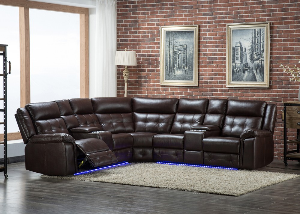 Terrific 3 Pc Power Reclining Sectional With Led Lights U45 Pabps2019 Chair Design Images Pabps2019Com