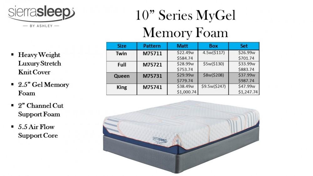 Ashley 10 Mygel Memory Foam Mattress Ashmatt4 Mattresses