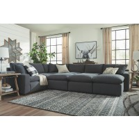 Savesto - Charcoal - Oversized Accent Ottoman