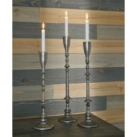Dimaia - Antique Silver Finish - Candle Holder (Set of 3)