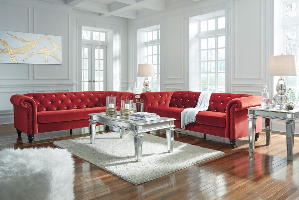 Malchin - Red - Sofa & Loveseat