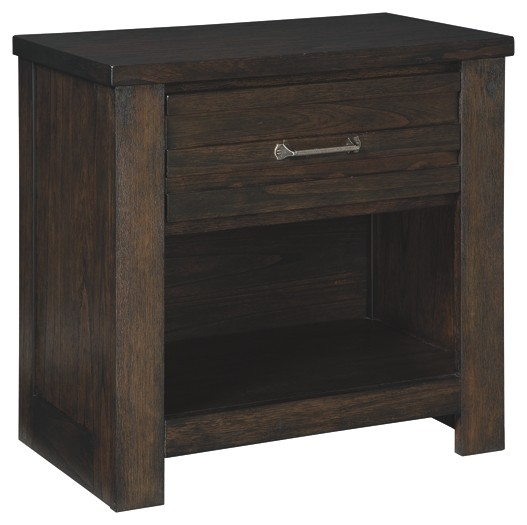 Darbry - Brown - One Drawer Night Stand