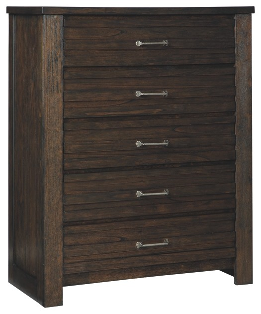 Darbry - Brown - Five Drawer Chest