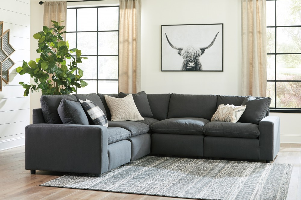 Savesto - Charcoal 5 Pc. Sectional