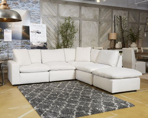 hot sale online cc028 14712 Savesto - Ivory 5 Pc. Sectional