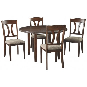 Charnalo - Medium Brown - Round DRM Table Set (5/CN)