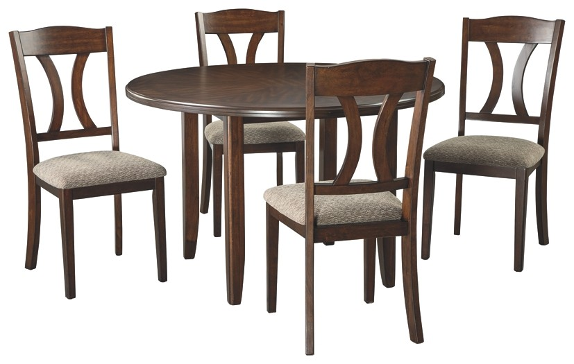 Charnalo - Medium Brown - Round DRM Table Set (5/CN)