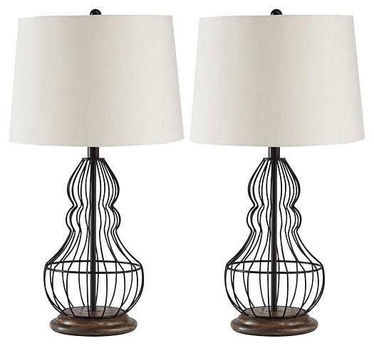 Maconaque Black Metal Table Lamp 2 Cn L204184 Lamps