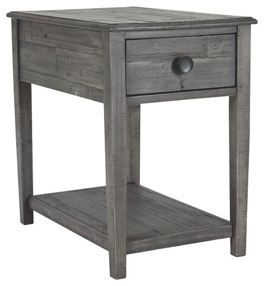 Borlofield - Dark Gray - Rectangular End Table